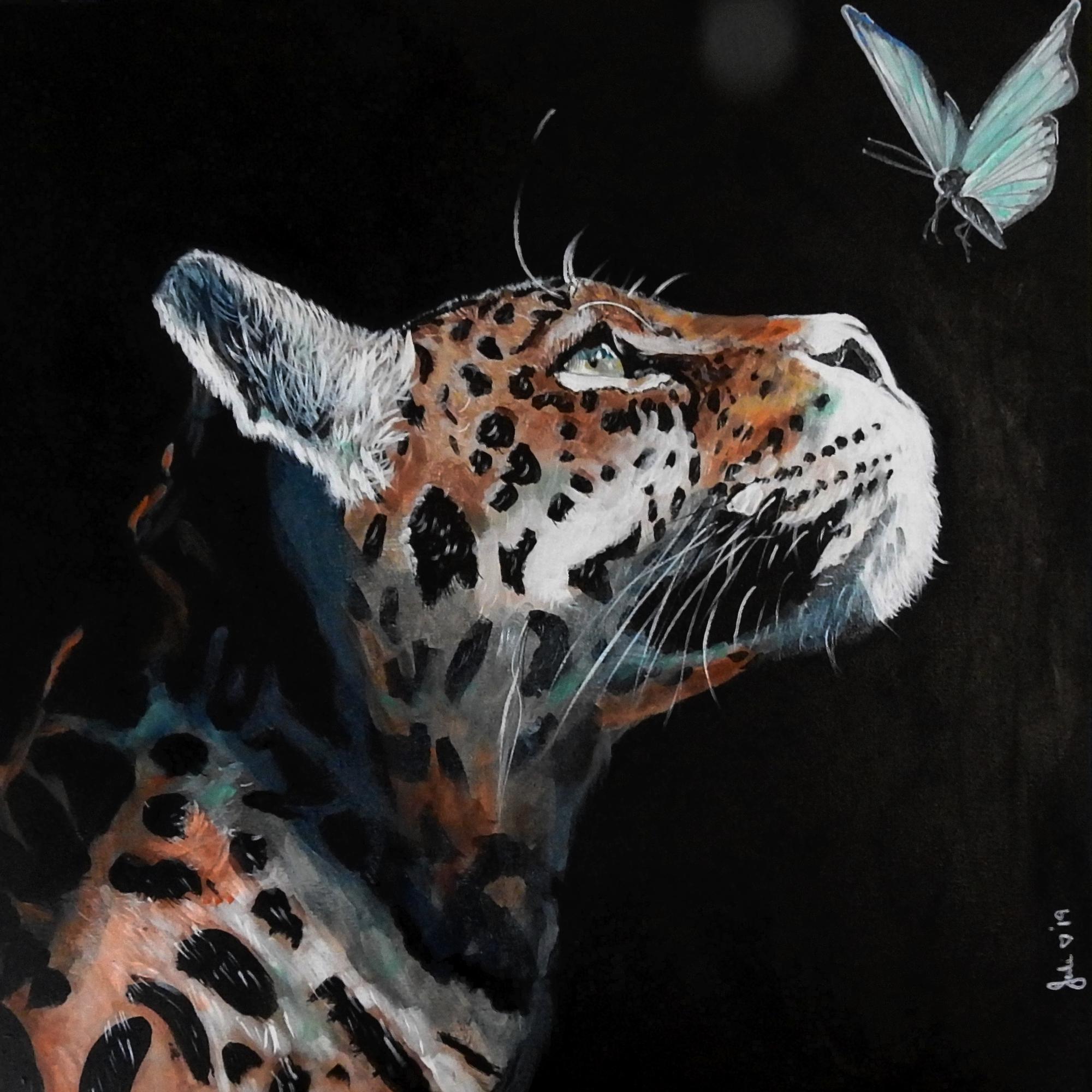 A Jaguar And A Butterfly Julie Hollis