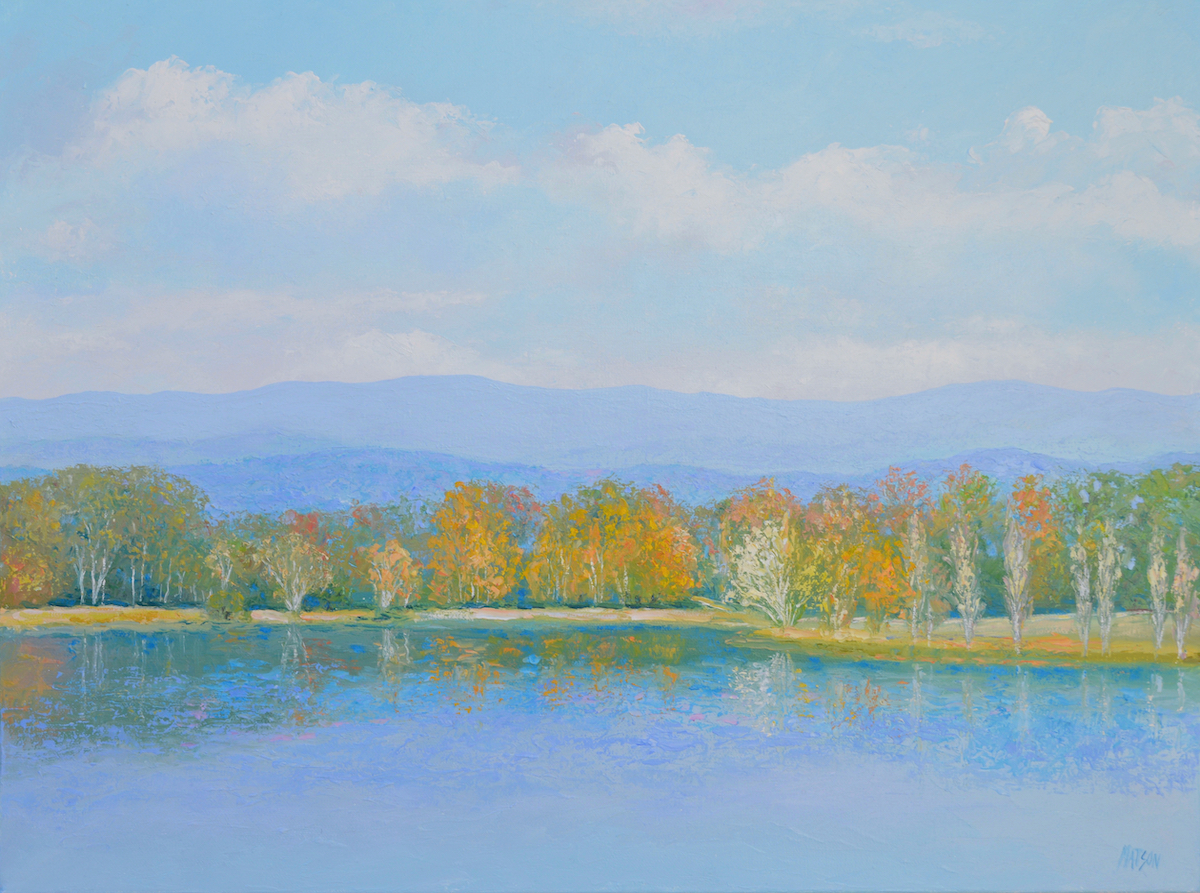 Autumn Lake Burley Griffin, Canberra, By Jan Matson