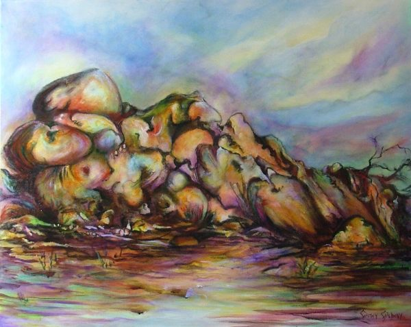 """""""resting Giant"""" 750 X 600mm"""