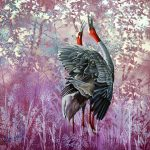 Duet Sarus Cranes Ltd Ed giclee print on canvas