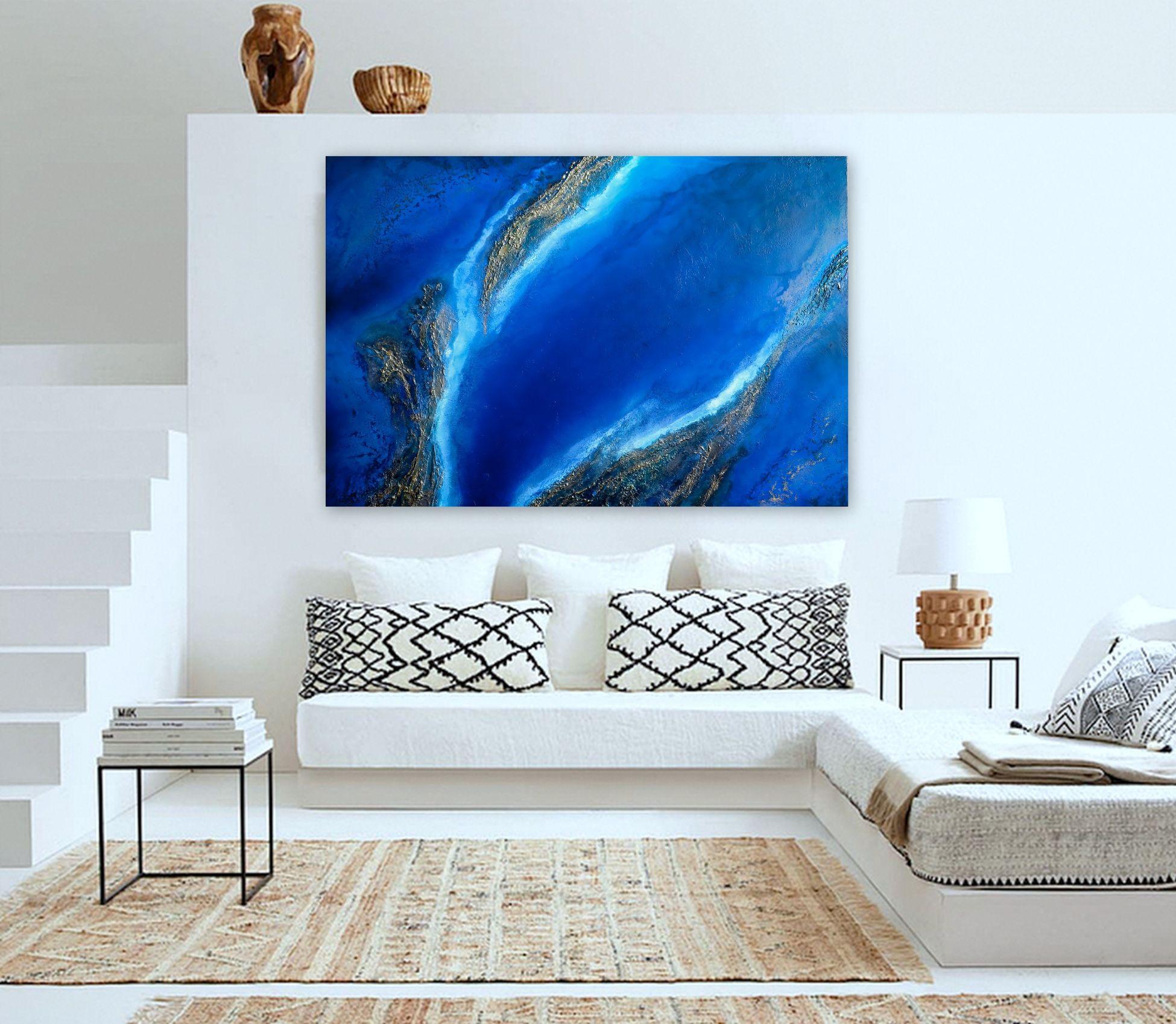"""Ocean Painting For Sale """"into The Blue"""" Petra Meikle De Vlas4"""