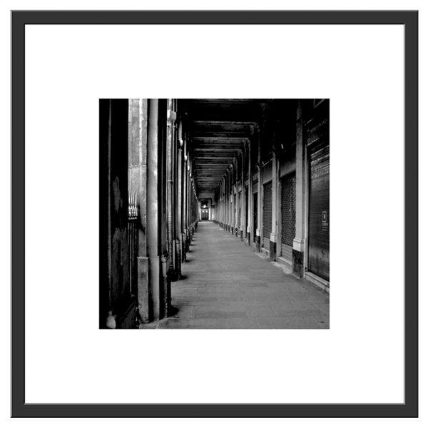 Pcb1037sq Palais Royal Walk, Paris France Framed Border