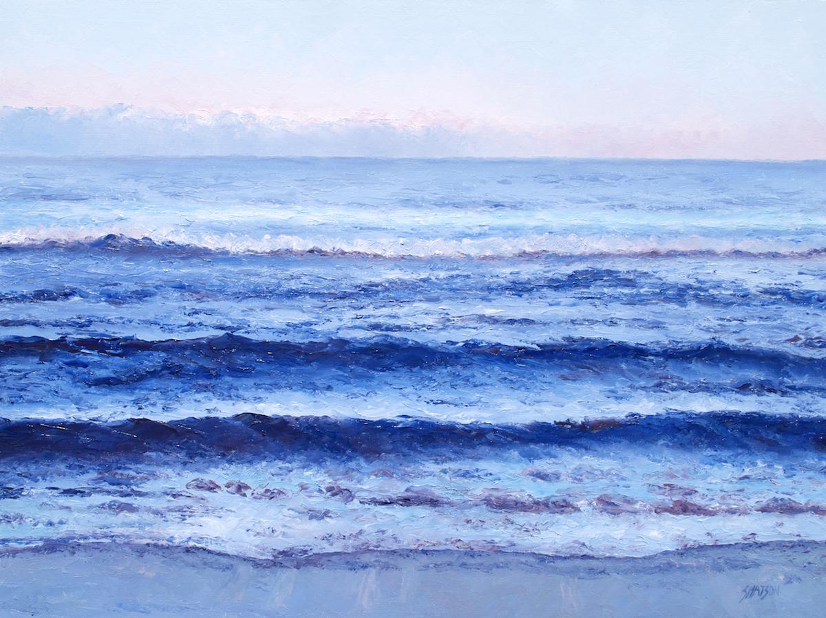 Twilight Blue, Ocean Painting By Jan Matson