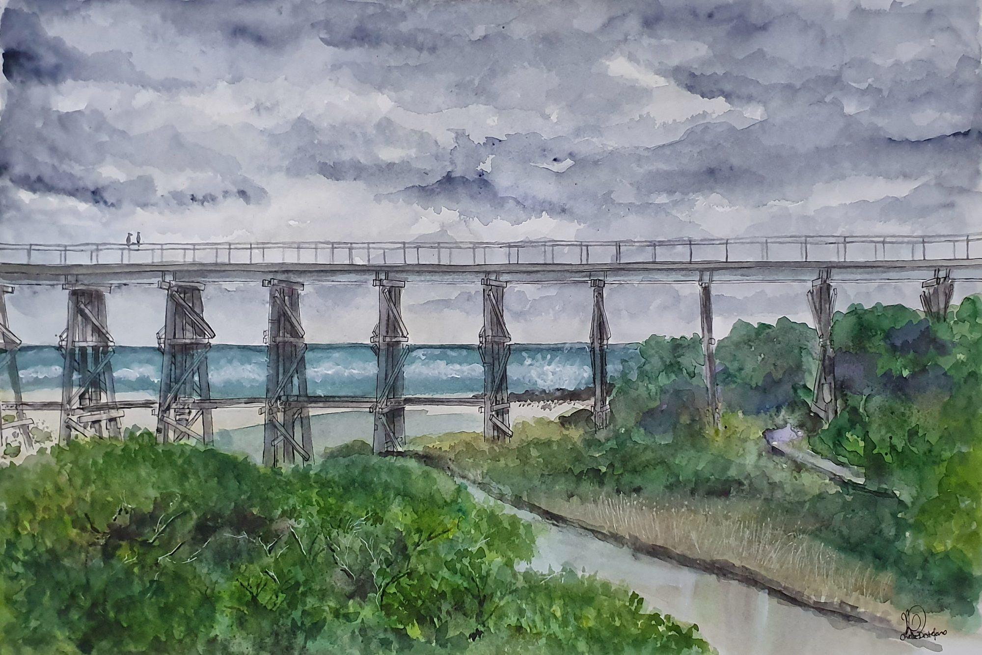 Kilkunda Bridge Stormy Day1