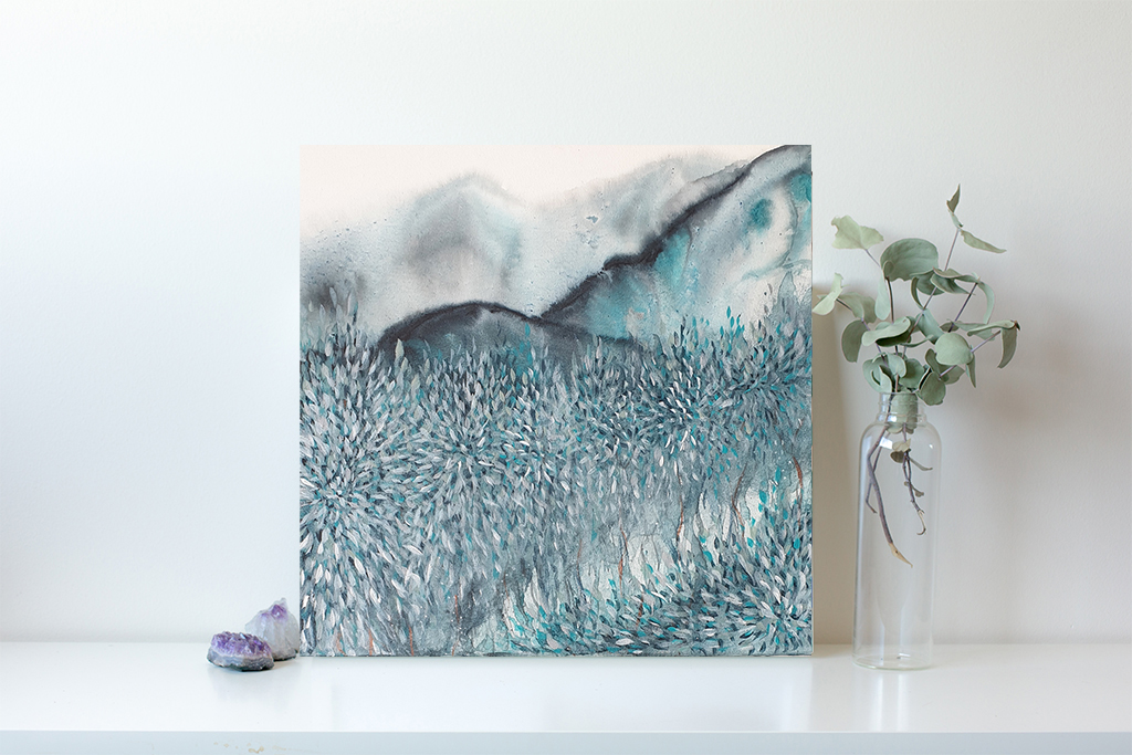 Artist Leni Kae Find Me Dreaming By The River Interior Design Example 25x25cm 1000px