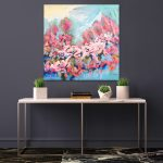 Bella You – Square Abstract Flowers 91x91cm