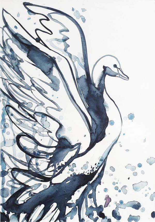 Dancing Swan Sydney Artist Leni Kae Minimal Art 1