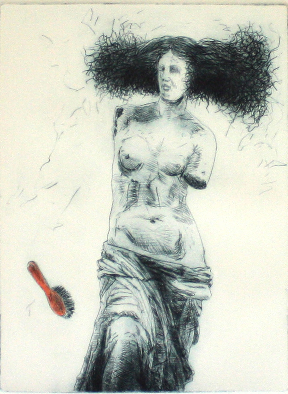 Matterson Neil The Red Hair Brush Drypoint 20 X 15 Cm 2015