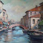 A Venetian Canal in Venice