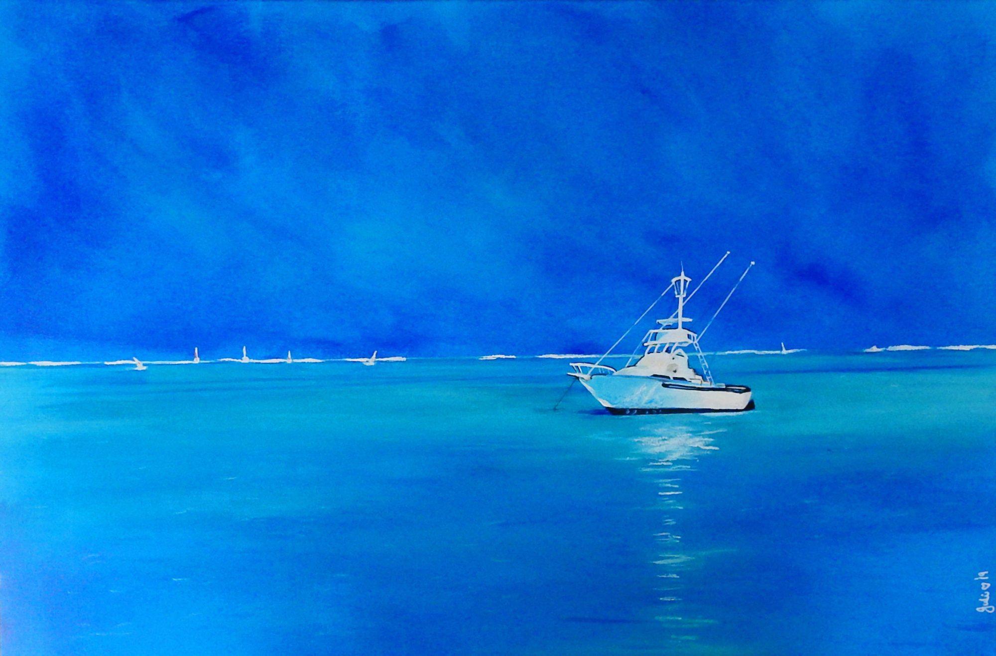 Afternoon On The Bay Juliehollisart Artlovers Australia