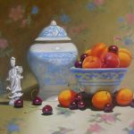 Ginger Jar with Apricots and Cherries
