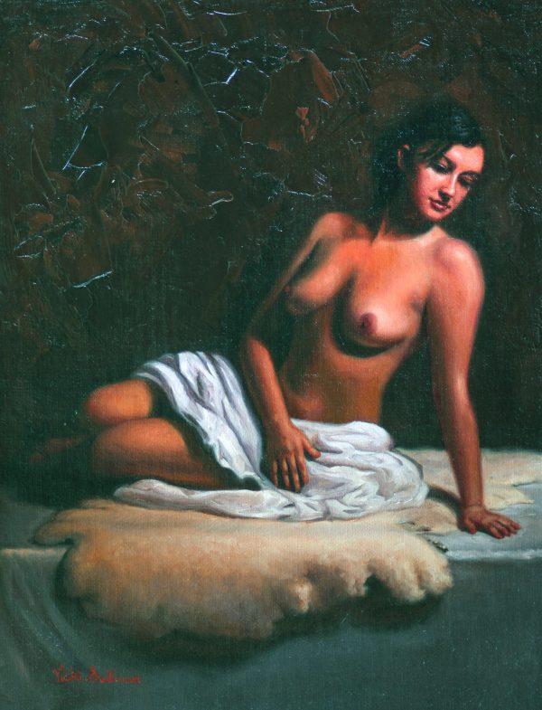 Bianca Vicki Sullivan Art Lovers Australia Figurative Oil On Linen H 40cm X W 30cm