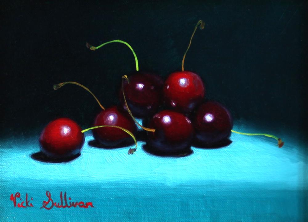Cherry Surprise Oil On Linen H14cm X W 19cm