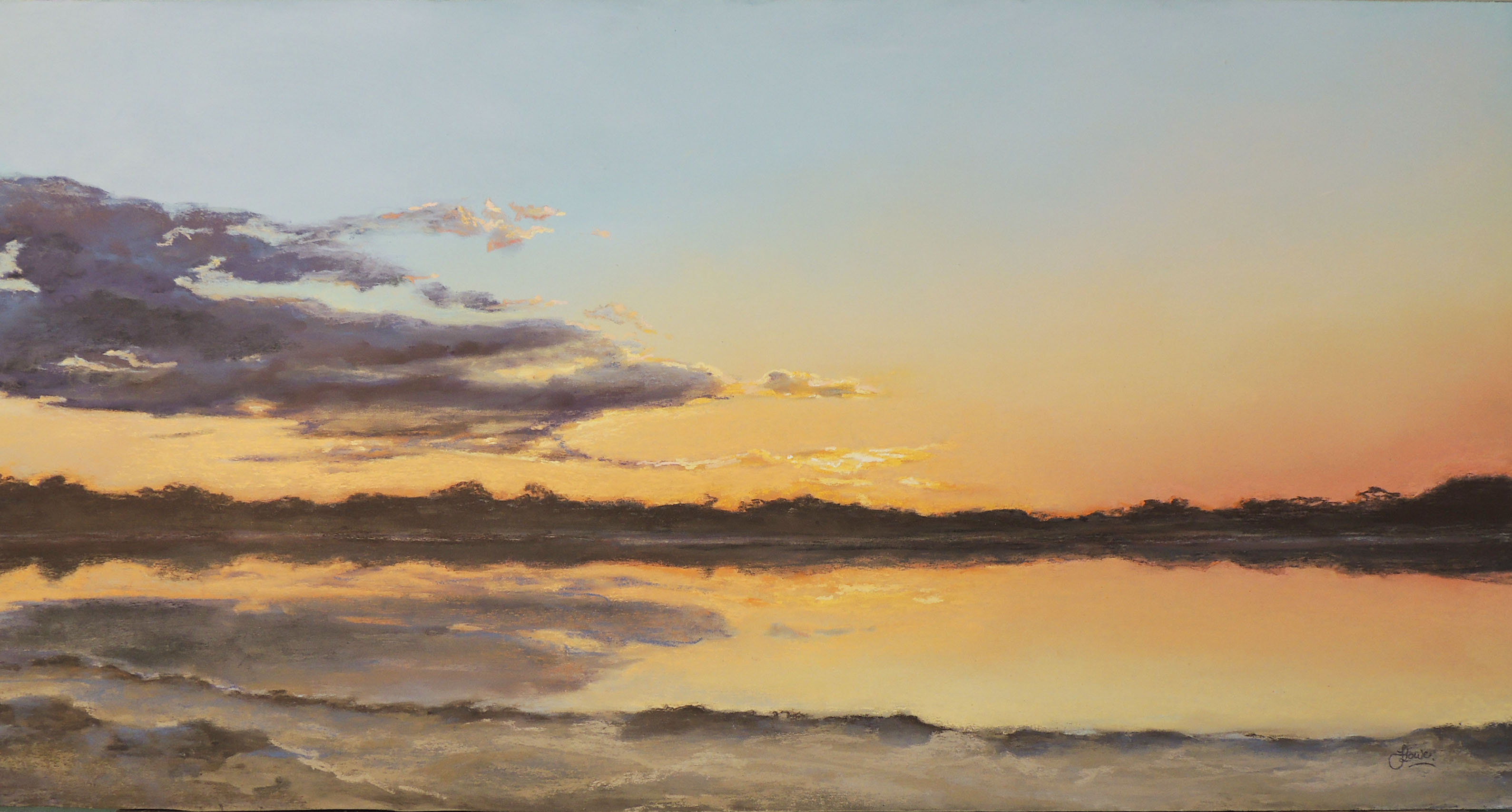 Felicia Lowe Into The Gloaming Pastel Framed