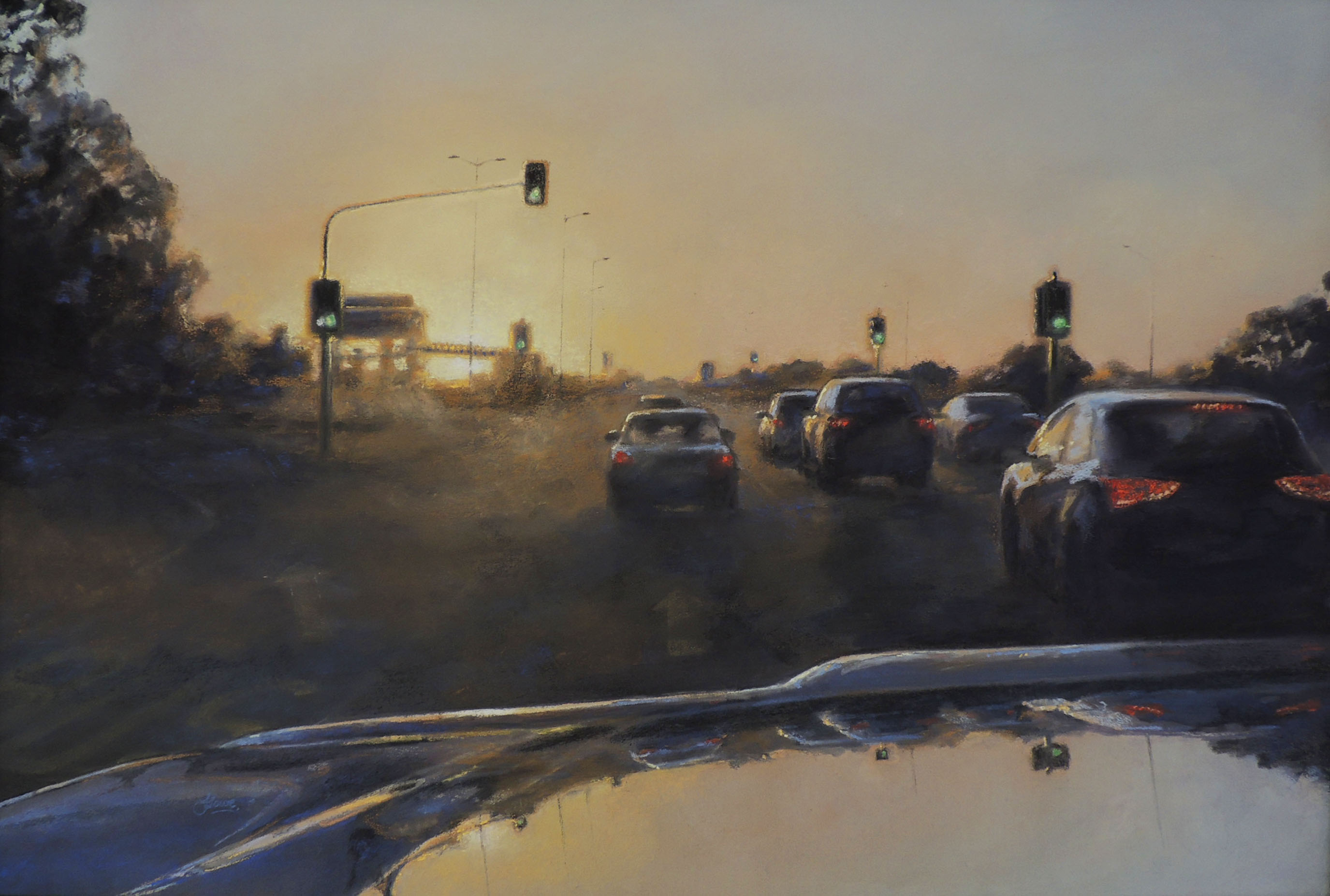 Felicia Lowe Journey Series South Street Pastel Framed 80x65cm