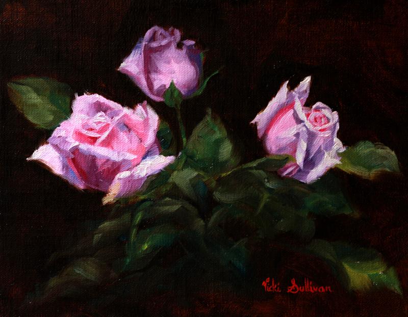 Fresh Spring Buds Vicki Sullivan Art Lovers Australia Still Life Roses