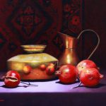 Pomegranates with Brass pot