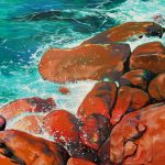 Red Rocks and Blue Sea. Torgadirrup / Torndirrup, Rainbow Coast Albany, Western Australia.