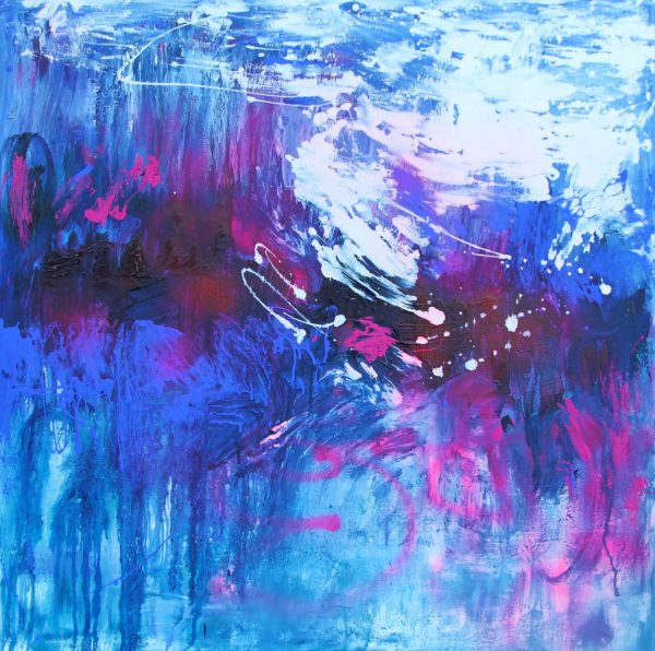 Belinda Nadwie Art Abstract Painting Sky's The Limit