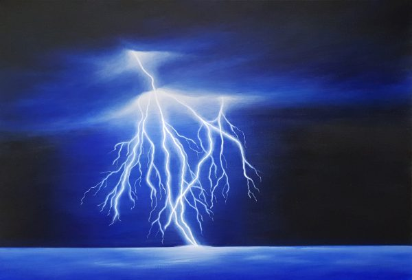Electric Storm Landscape Painting