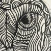 Lino Cut Print Of Owl Detail