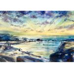 Mahon Pool – Maroubra – Original watercolour painting