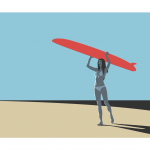 Surfer Girl Ltd Ed Print