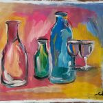 Still life with bottles and glasses