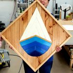sailing boat reclaimed wood