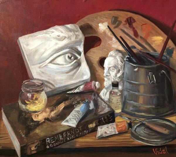 201900034 Art Atelier Studio Oil On Linen