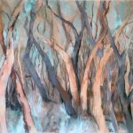 Paperbark Forest Abstract Original Acrylic