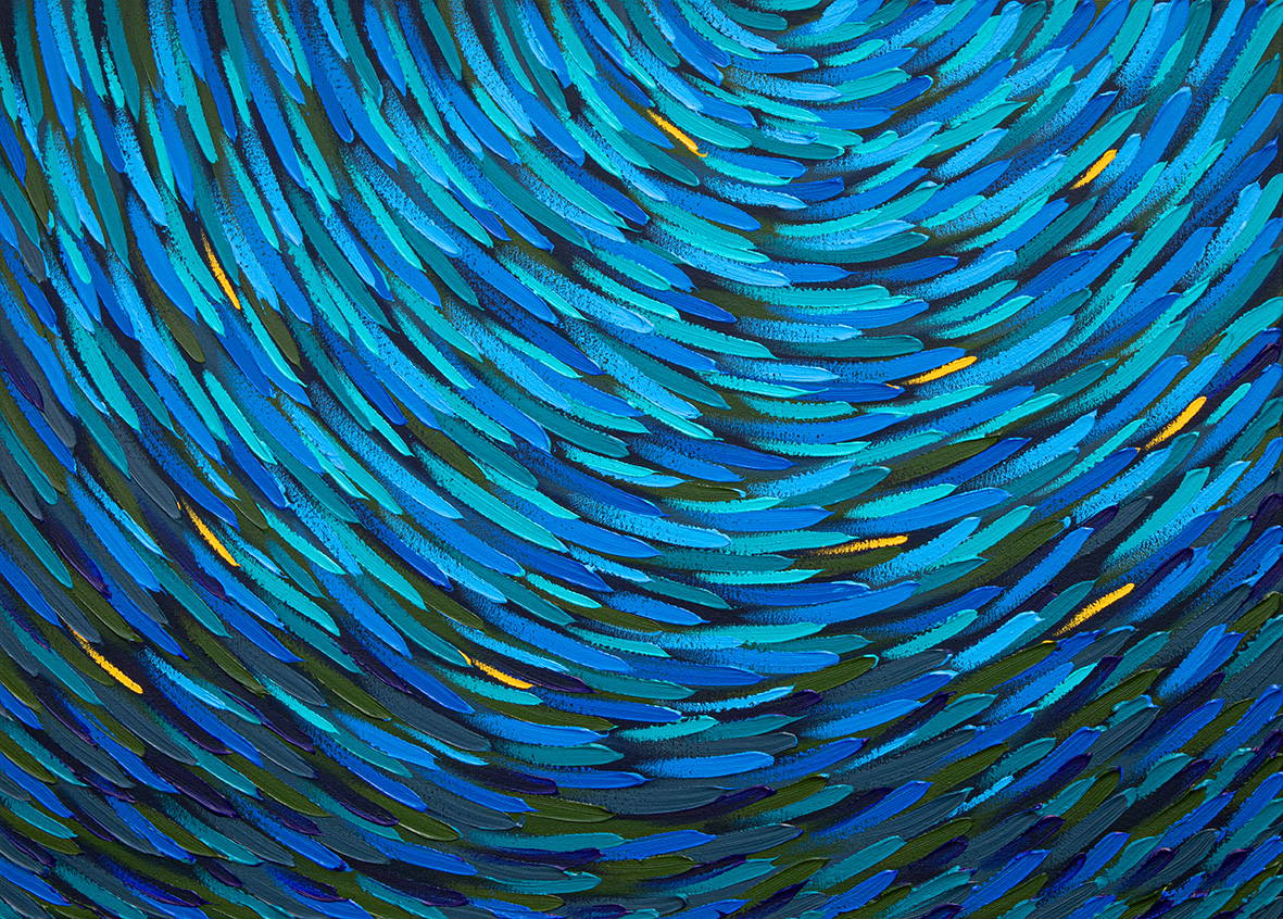 Arja Valimaki, Mango Dottyback, 66x92cm, Web