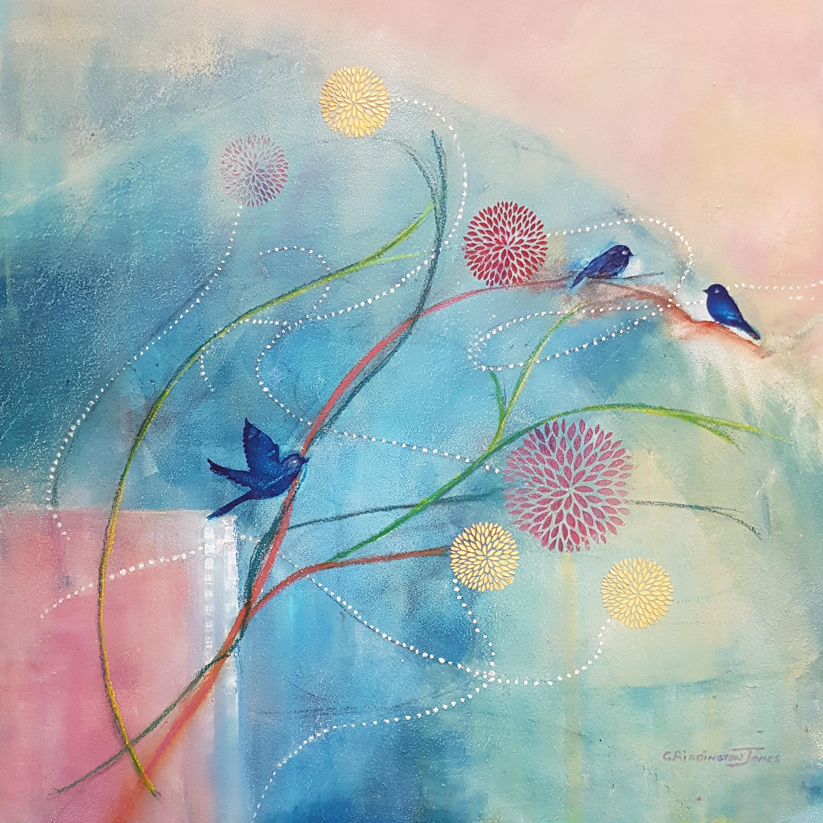 Beyond The Garden Wall, Clare Riddington Jones, 60cm X 60cm