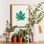 Woven papaya leaf