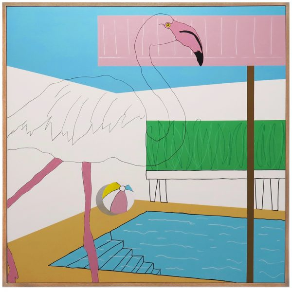 Flamingo Holiday Brooke Ledingham Art Lovers Australia