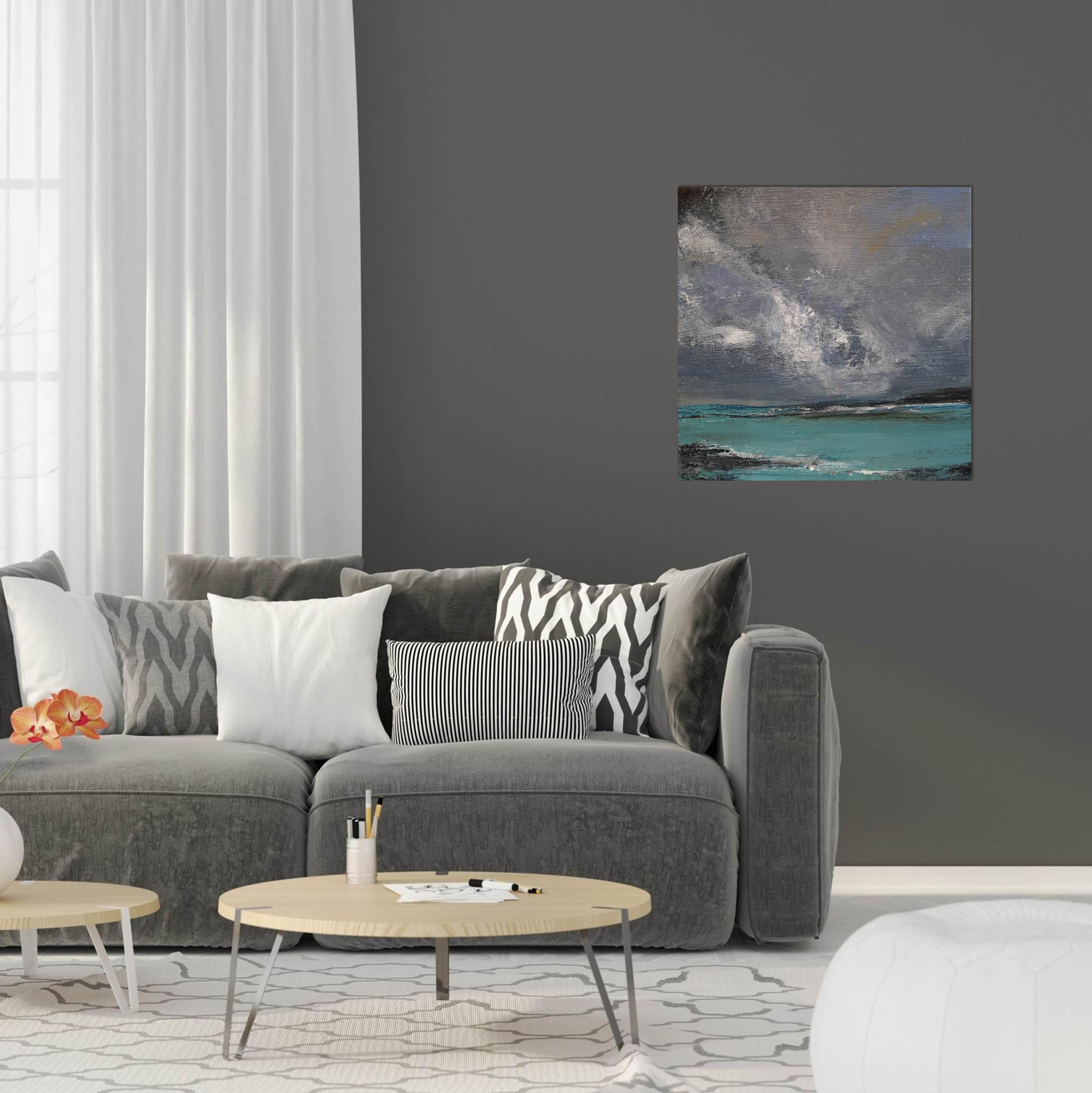 Island Storm With Orange Flower Lounge