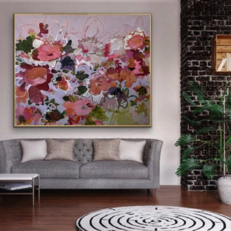 Paper Daisies In Situ 1 Framed 1024x839