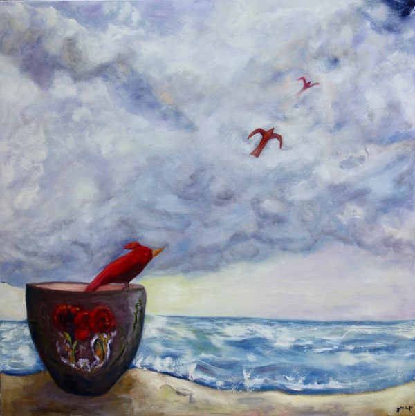 Red Birds Take Flight Susannah Paterson Art Lovers Australia