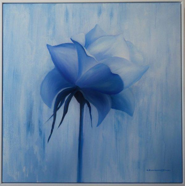 Vision In Blue, Clare Riddington Jones, 80c X 80m Framed