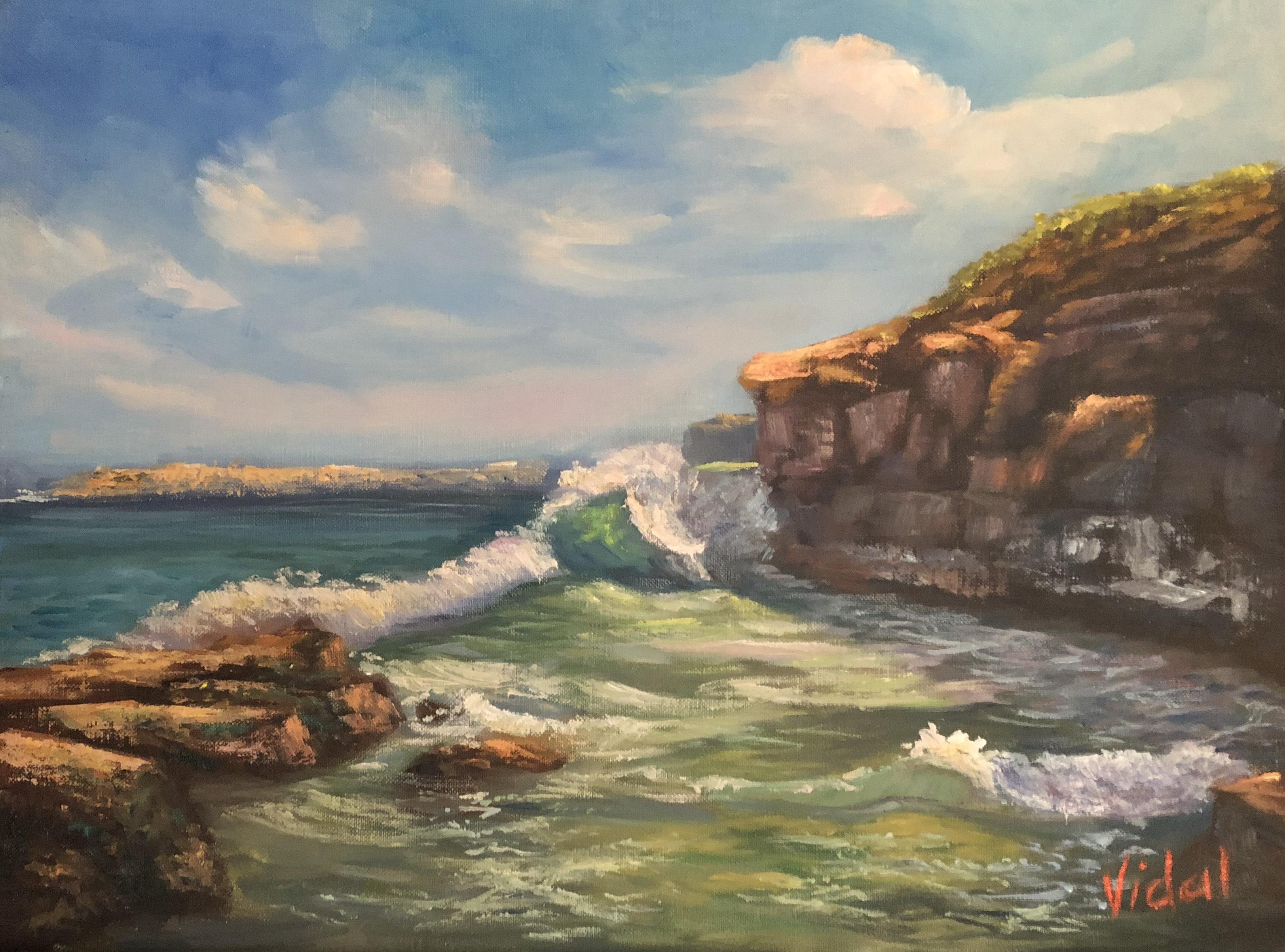 Waves Near Caves Beach 20190036b