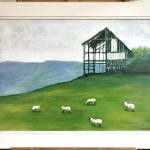 Landscape with Sheep and Barn