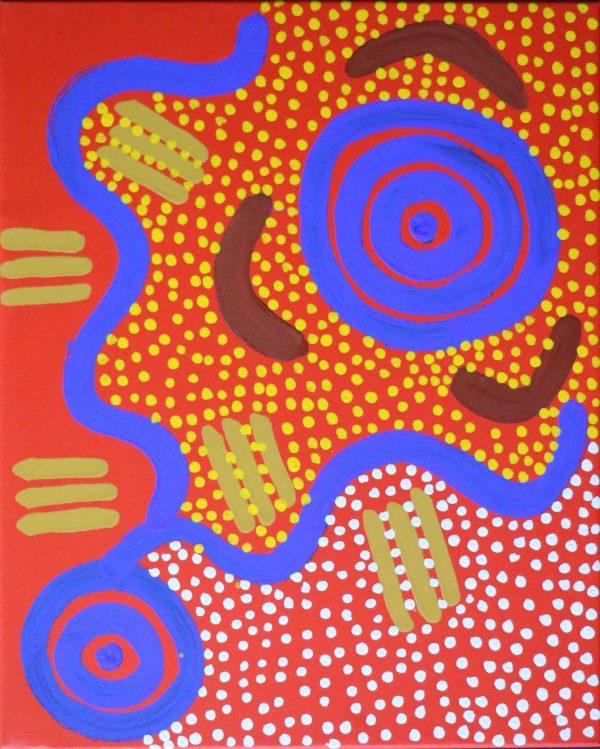 Lightning Storm Michael Nelson Jagamara Art Lovers Australia
