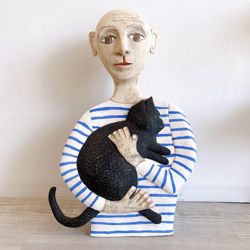 Picasso Cuddling His Cat Danielle Piat Art Lovers Australia