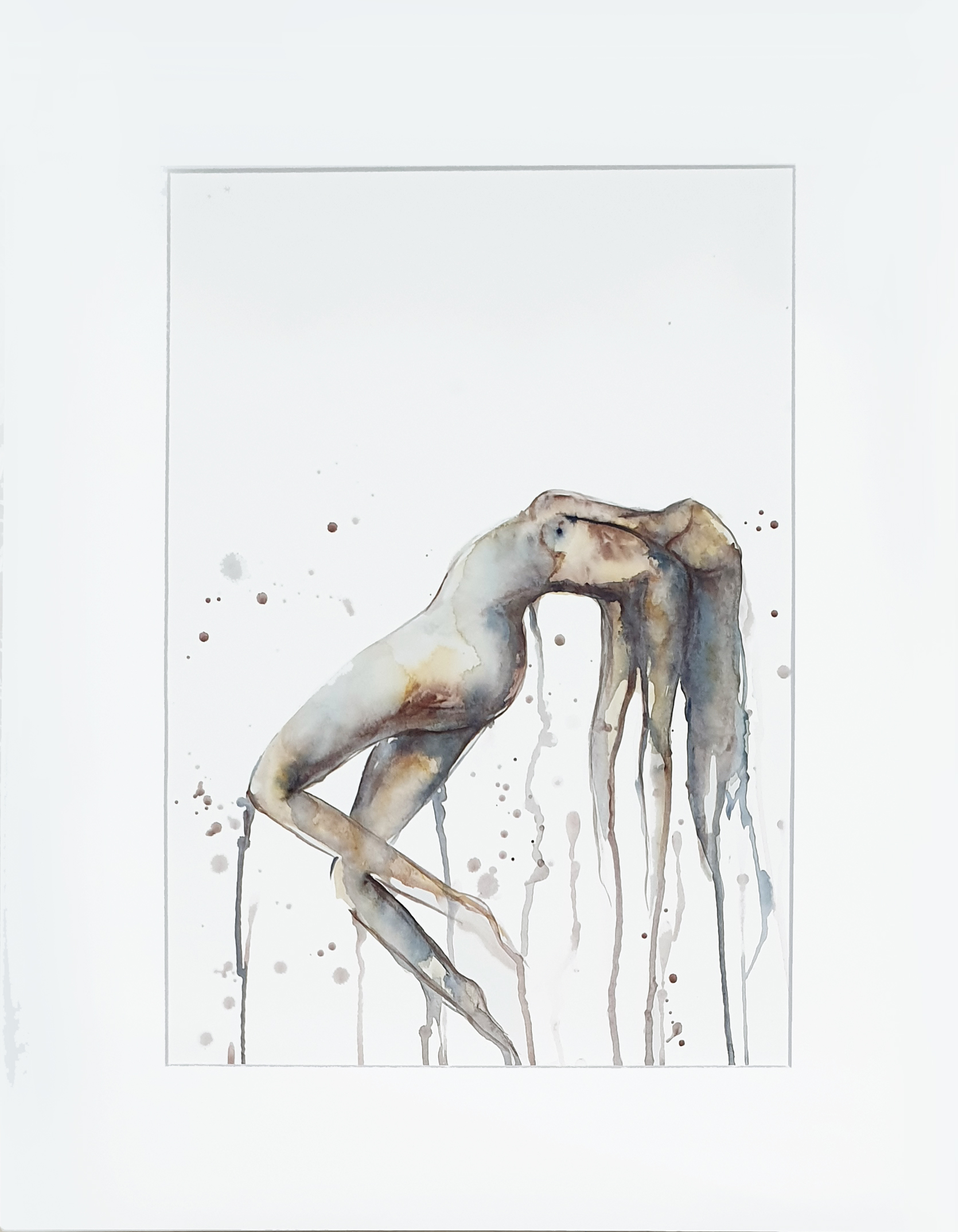 Leni Kae And So I Rise Watercolour Nude Worksonpaper