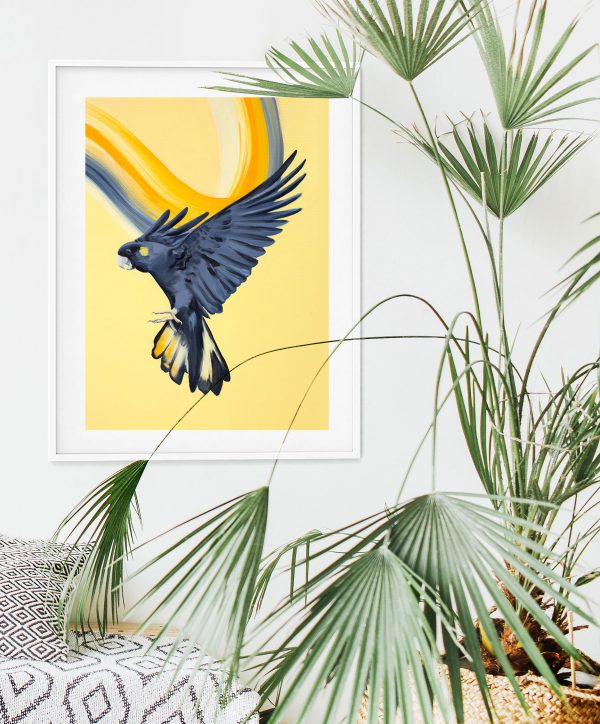 Maria Harding Summer Blk Cockatoo Framed Print