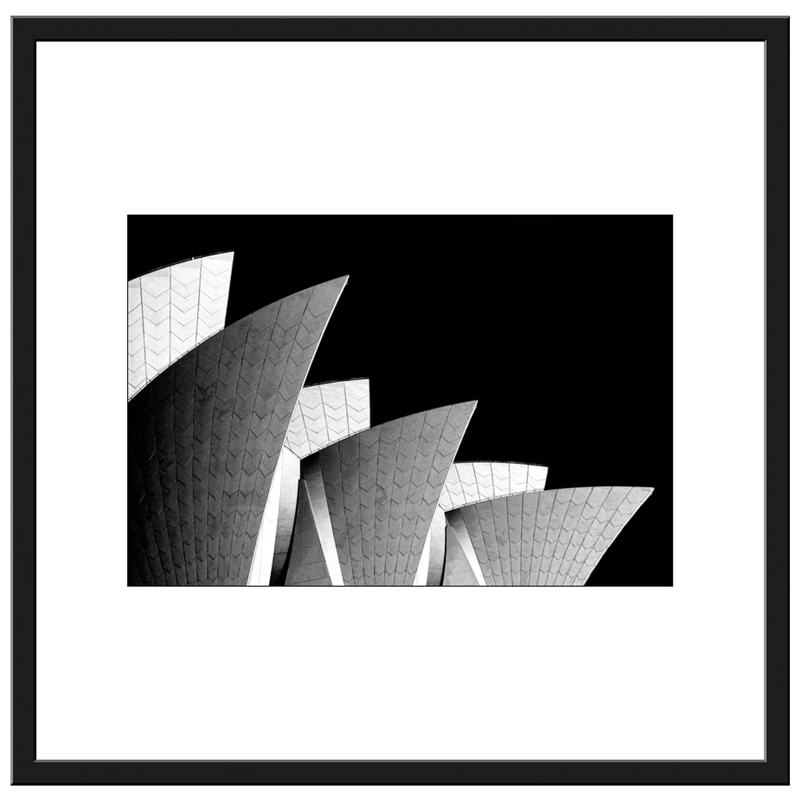 Pcb1025ob Opera House Sails Framed Border