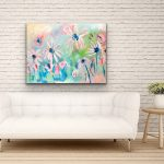 Sunkissed Daisies – Abstract Flowers