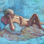 Female nude – Terese on Blue