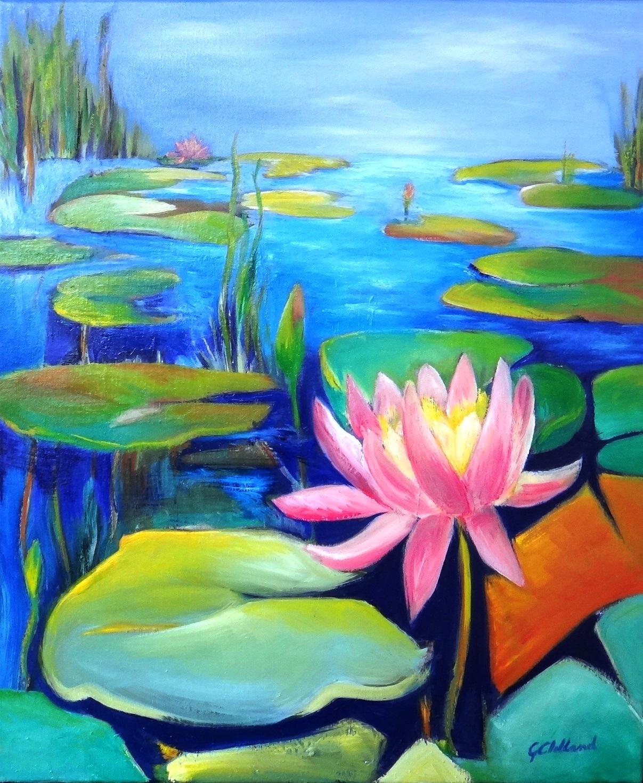 …….waterlily Garden 60×50 Oil