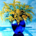 Wattle in Blue Vase